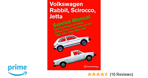 volkswagen rabbit scirocco jetta service manual 1980 1984 rh amazon com Red Rabbit Convertible Volkswagen Rabbit Cabriolet