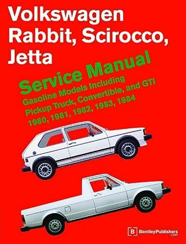 volkswagen rabbit scirocco jetta service manual 1980 1984 rh amazon com VW Golf MK1 vs MK2 VW Golf MK1 vs MK2