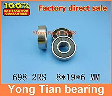 8x19x6 mm S698-2RS 1 PCS 440c Stainless Steel CERAMIC Ball Bearing ABEC-5