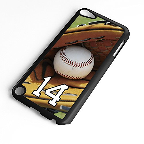 iPod Touch Case Fits 6th Generation or 5th Generation Baseball #8100 Choose Any Player Jersey Number 14 in Black Plastic Customizable by TYD - Ipod 1st Touch Generation Button