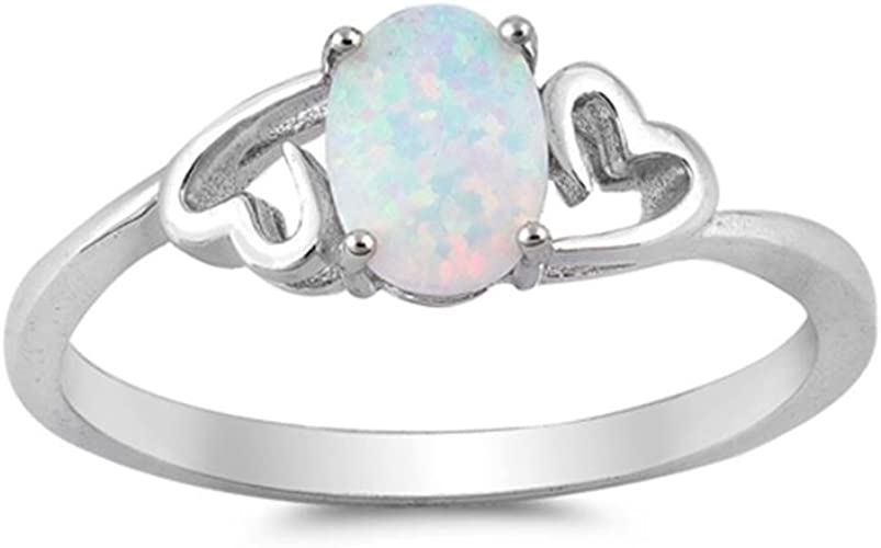 Black Wave | Jewelry Gift for Women Glitzs Jewels 925 Sterling Silver Created Opal Ring