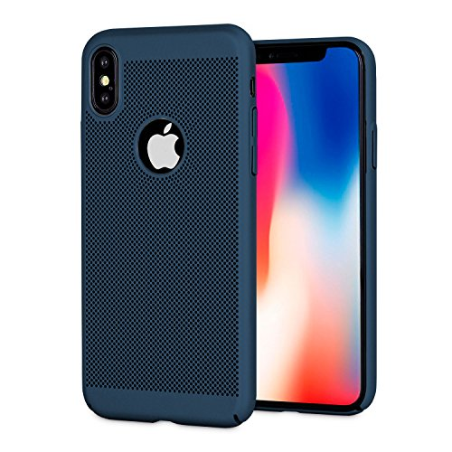 iPhone X Heat Dissipation Case - Olixar Meshtex - Wireless Charging Compatible - Blue