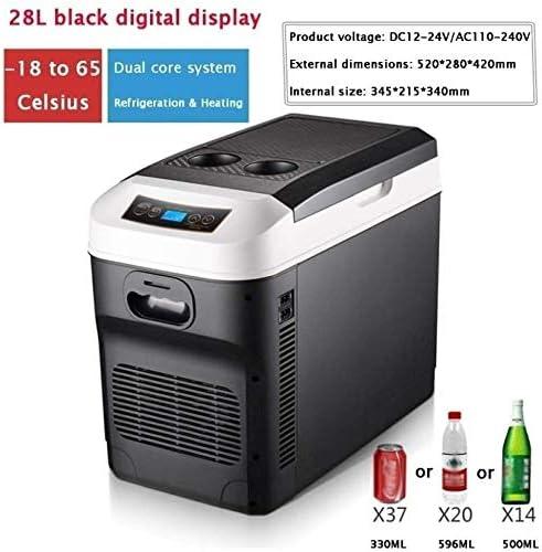 220-240V Mini Electric Cooler for Driving Travel Home Use YADLCR Portable Refrigerator Car Refrigerator Freezer Vehicle Car//Truck 24V 28 liters 12V