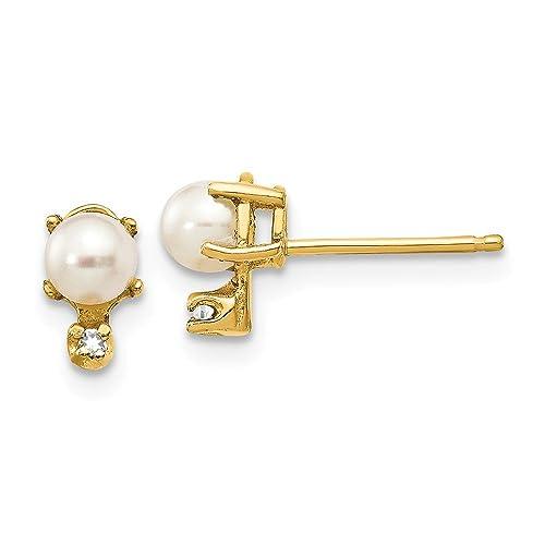 Width: 5mm Length:7mm 14k Yellow Gold Cross Stud Earrings Ideal Gifts For Women