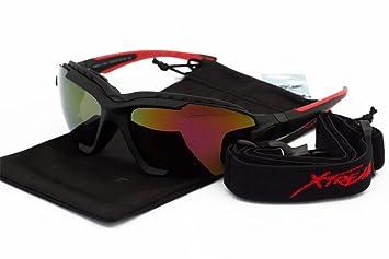 Gafas de sol polarizadas con acolchado de espuma y efecto espejo, 2 en 1,