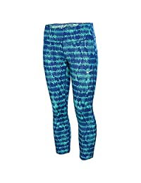 Nike Womens Epic Run Tight Fit Capris Green/Blue