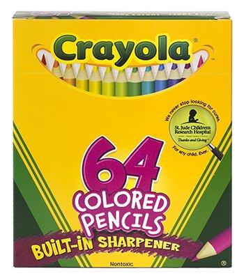Crayola Colored Pencils 64 Count Half Length -- Case of 4]()
