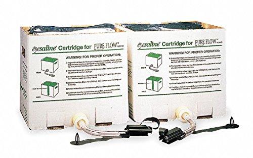 Fendall Saline - Fendall Pure Flow 1000 Emergency Eye Wash Station Trilingual Refill Cartridges (2 Cartridges, 3.5 gallon/13.2 L each)