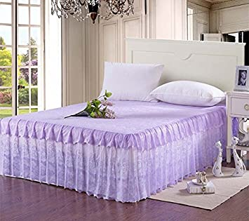 Good (Queen, Purple)   Princess Romantic Lace Bedding Fitted Sheet (Bed Skirt)