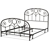 Fashion Bed Group Grafton Complete Bed with Metal Scrollwork Panels and Decorative Castings, Rusty Gold Finish, King