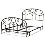 Fashion Bed Group Grafton Complete Metal Bed and Steel Support Frame with Prominent Scrollwork and Decorative Castings, Rusty Gold Finish, Twin Review