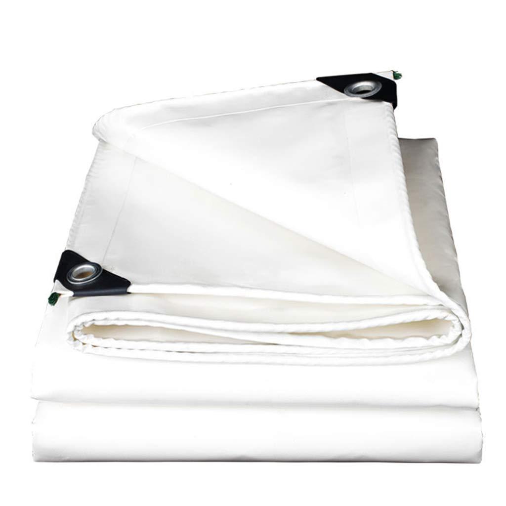 KF Weiße hochfeste Tuch-Windschutzscheibe, Sonnenschutzverdickung Isolierplane-Planenschirmstoff 3  4m, 6  8m