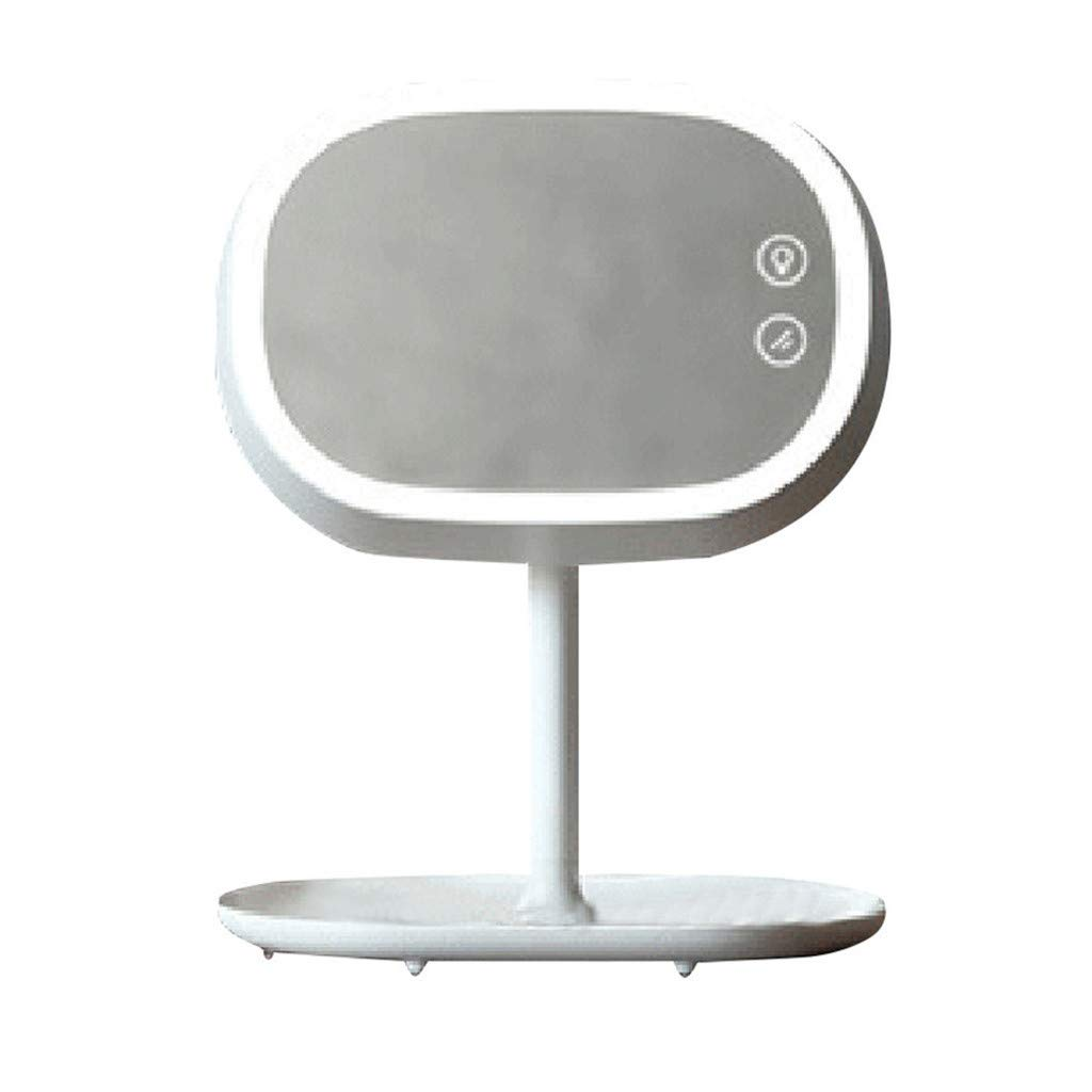 AGUIguo LED Lighted Makeup Mirror Lamp - USB Rechargeable Touch Screen, Adjustable Stand with Cosmetic Organizer Adjustable Angles Vanity Mirror by AGUIguo