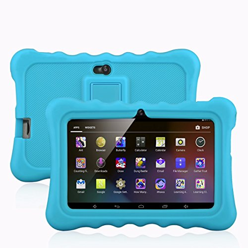 7″ Kids Tablet PC, Ainol Q88 Android 4.4 External 3G 8GB ROM 512MB RAM Tablet with Dual Camera WIFI USB Phablet (Blue)