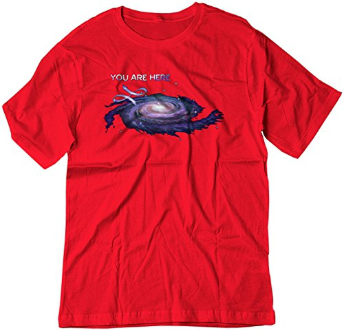 bsw-mens-you-are-here-milky-way-galaxy-science-shirt-med-red
