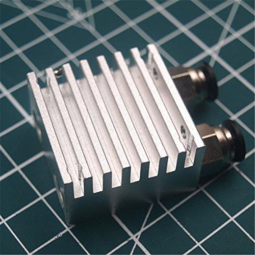 WillBest 1pcs heatsink for Chimera//Cyclops Heatsink with 2x4mm Bowden Tube Joint