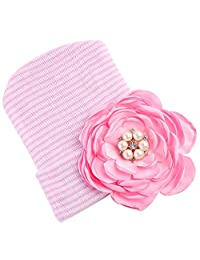 Dovewill 1pack Cute Newborn Flowers Baby Infant Hospital Cap Soft Beanie Hat 0~3 Months - B, as described