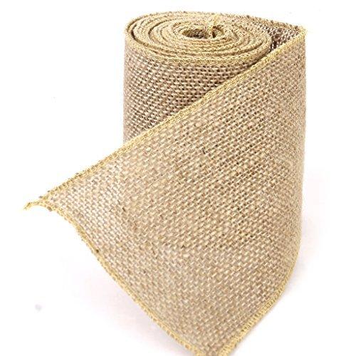 1 rollo de cinta de arpillera de yute Fendii para boda o decoración del hogar/manualidades, accesorios de 3 m x 10 cm
