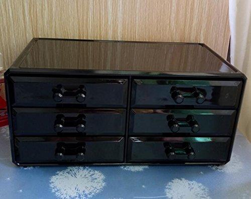 GreenSun(TM) 3 layer 6box Drawer type Acrylic makeup storage Display box Cosmetics Storage organizers Jewelry Accessory case casket