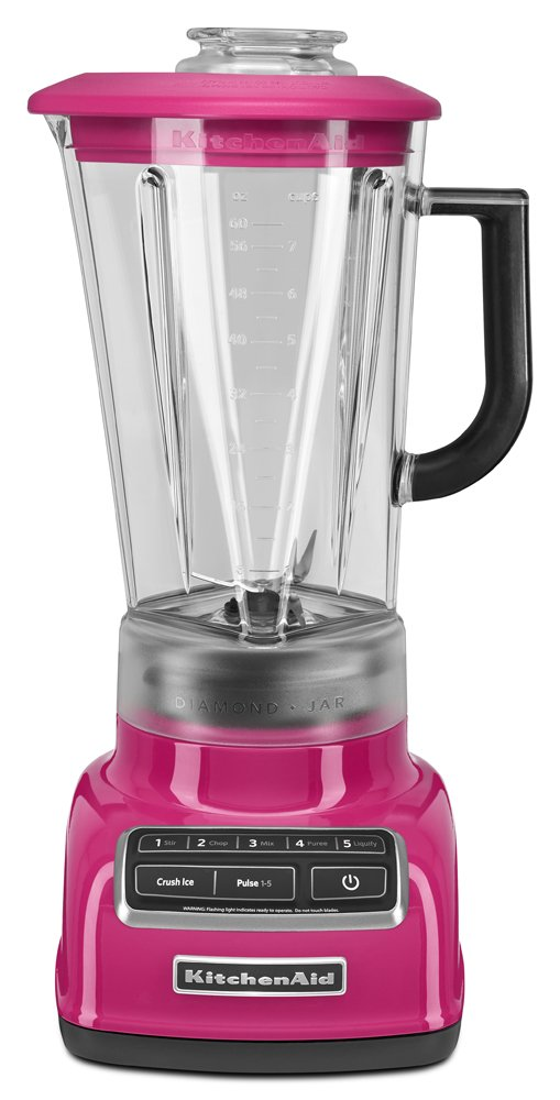 KitchenAid KSB1575CB 5-Speed Diamond Blender with 60-Ounce BPA-Free Pitcher - Cranberry