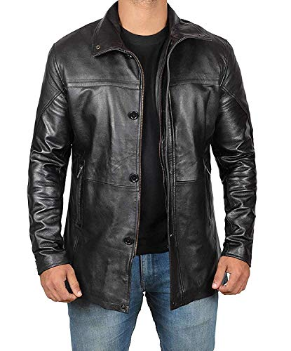 Bristol Men Black Jacket - Genuine Lambskin Black Leather Jacket for Men | -
