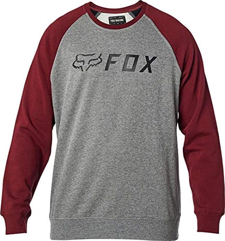 Fox Racing Męskie Men's Apex Crew Fleece Sweater,2X-Large,Grey/Red Pullover, grau/rot, XX: Odzież