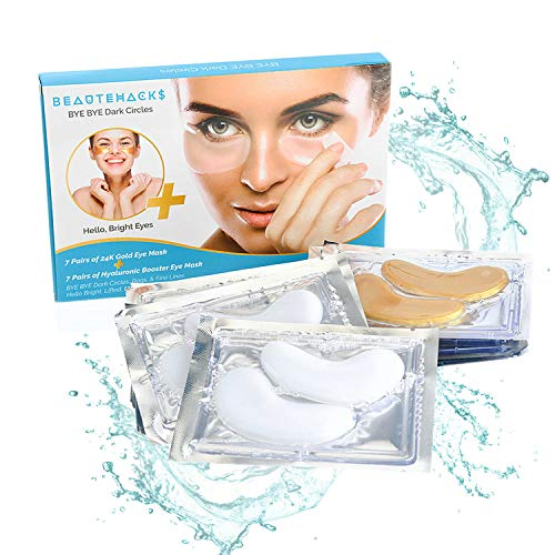 BeauteHacks Under Eye Treatment Kit l 24K Gold Eye Masks + Hyaluronic Acid & Collagen Anti-Aging Under Eye Patches to Reduce Dark Circles, Puffy Eyes, Eye Bags, Fine Lines & Wrinkles ()