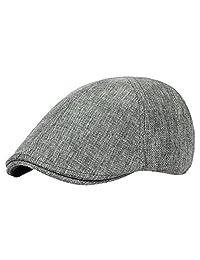 Zhuhaitf Unisex Vintage Linen Flat Cap Newsboy Driving Hat CQ0039