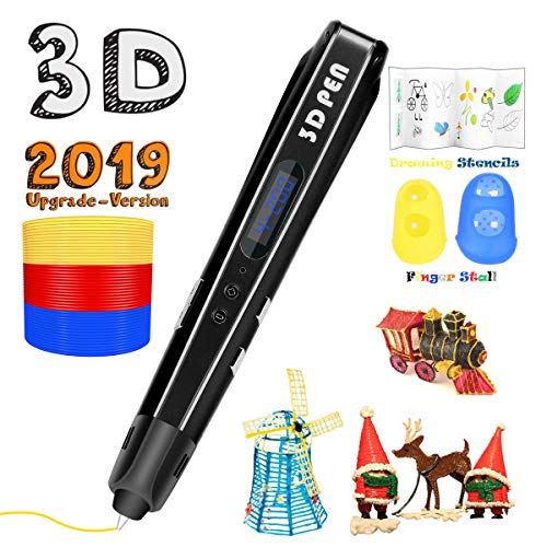 3D Printing Pen for Kids,Uvital 3D Drawing Doodle Printer Pen 【2019 Upgrade Version】Non-Clogging...
