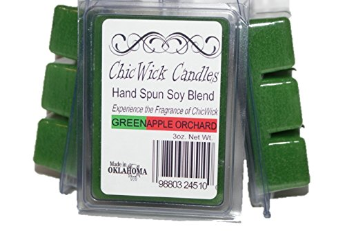 ChicWick Candles 3Pack Green Apple Orchard Soy Blend Wax Mel