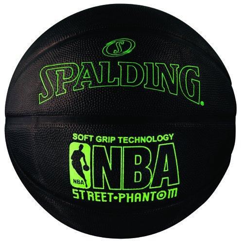 Spalding 71024 NBA Street Phantom Outdoor Basketball, Neon Green/Black