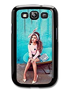 AMAF ? Accessories Ariana Grande Blue Background Popstar Singer case for Samsung Galaxy S3