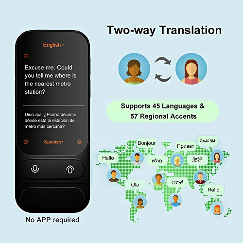 Alcorrect JoneR Voice Language Translator Device, 3.1inch Touch Screen, 45 Languages+57 Accents Instant Two-Way Translator, Support Photo Translation & 6 Languages Offline Translation, GO by Alcorrect (Image #1)