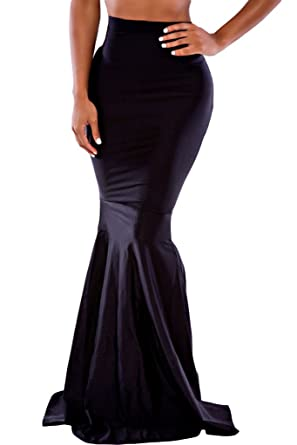 Dearlovers Women High Waist Bodycon Mermaid Cocktail Evening Skirt ...