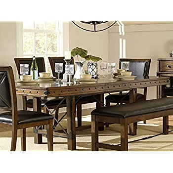 This Item Rustic Turnbuckle Dining Room Furniture In Burnished Oak (Dining  Table)