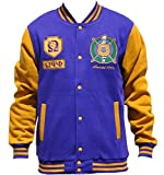 omega psi phi kids - Big Boy Headgear Omega Psi Phi Fraternity Men's Fleece Jacket 3XL Purple