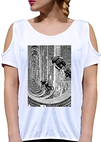T SHIRT JODE LADY GGG27 Z0366 COOL PICTURE VINTAGE ROCK USA FUN NICE HIPSTER BIANCA - WHITE S