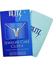 Blitz Premium XL 2-Ply Jewelry Cleaning and Polishing Cloth with Tarnish Inhibitor for Gold, Silver, and Platinum, Made in the USA, Nontoxic and Environmentally Friendly, 2-Pack, Blue 2 Pack