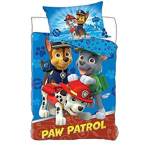 Paw Patrol – Juego de cama funda nórdica + cojín, diseño de ...