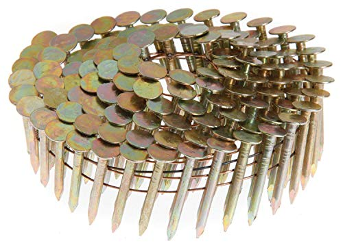 Grip-Rite GRCR2DCGAL 7/8-Inch by 15-Degree Wire Collated Galvanized Coil Roofing Nail (7,200 per Box)