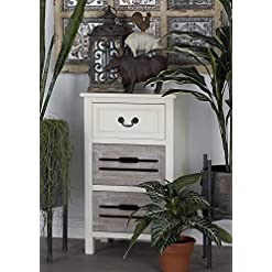 Bedroom Deco 79 96341 Wood Side Table, 17″ x 28″ farmhouse nightstands