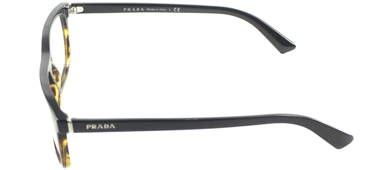 9052e6a20cf Amazon.com  Prada PR03RV Eyeglasses-TFJ 1O1 Black Striped Havana-55mm  Shoes