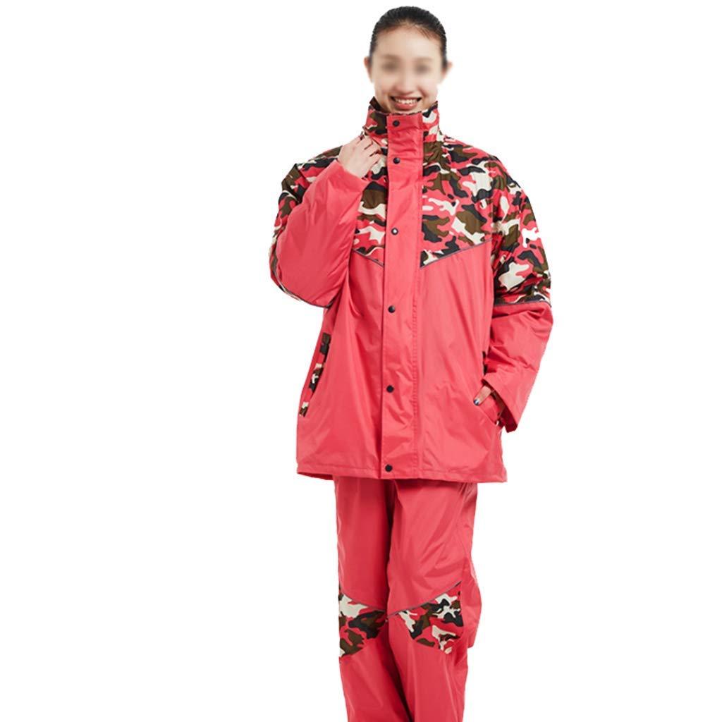 男性と女性のためのレインコートは再利用することができますレインパンツスーツ大人防風防風フード付き屋外作業オートバイゴルフ釣りウォーキング狩猟マルチサイズオプション (サイズ さいず : XXXL) XXXL  B07P9HWFV7