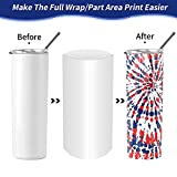 9x14 Inch Sublimation Shrink Wrap Sleeves, 60 Pcs