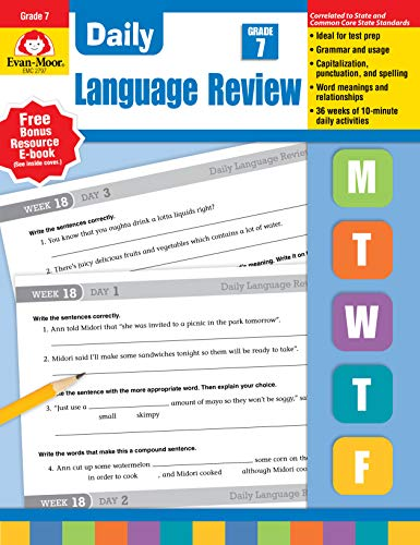 Evan-Moor Building Spelling Skills, Grade 6 Teacher's Edition - Supplemental Teaching Resource Workbook & Spelling Lists (Daily Language Review) ()