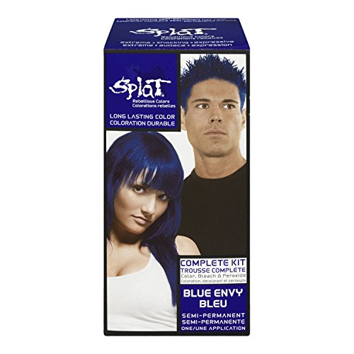Splat Rebellious Semi Permanent Fantasy Complete Hair Color Kit in Blue Envy