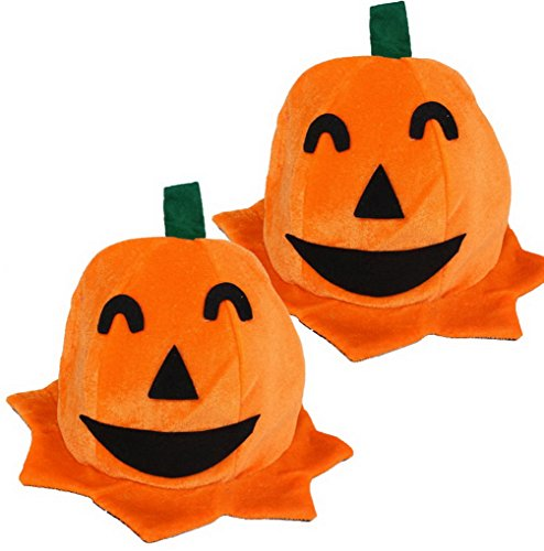 ACMEDE 2 Pcs Funny Pumpkin Design Hat for Masquerade Party Halloween Cosplay Costume Props ()