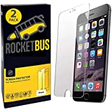 "2-Pack RocketBus Ultra-Slim Real Tempered Glass 4.7"" Film Screen Protectors Use for to Fit Over Apple iPhone 8 7 6 6s Cellphones"