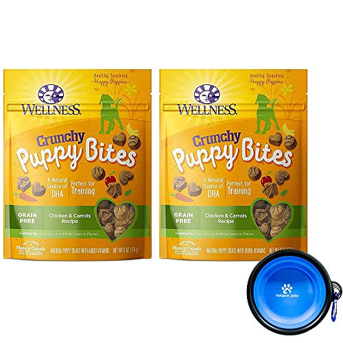 (Wellness Puppy Bites for Dogs Bundle 2 Pack - 12 oz. (Chicken Carrots))