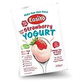 EasiYo Low Fat Sweet Strawberry Yoghurt Sachets - 8 PACK by EasiYo